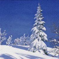2176 Servilleta decorada Navidad