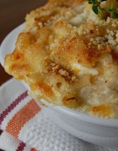 Crab Mac n Cheese.  This sounds terrific to me, however I don't think anyone in my house would enjoy it as much as me, I wonder how much I can half the recipe?