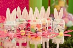 Easter Bunny Push Pops - definitely have to do this for our preschool class!