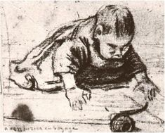 Vincent van Gogh - Baby Crawling, 1883