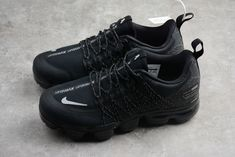 Nike Air Vapormax Run Utility Black White-Dark Grey AQ8810-001  Tags: Nike Air VaporMax, Air Vapormax, Air Vapormax Utility Model: NIKEAIRVAPORMAX-AQ8810-001 5 Units in Stock Manufactured by: NIKEAIRVAPORMAX Air Max Sneakers, All Black Sneakers, Sneakers Nike, Black And White Shoes, Nike Air Vapormax, Dark Grey, Running Shoes, Jordans, Model