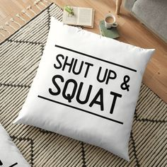 Fitness training design to wear everywhere. Ideal tshirt for a friend who spends more time in the gym working out and lifting weights. Great gift for Weight Lifting Motivation, Weight Lifting Workouts, Fitness Motivation, Graphic T Shirts, Gym Crush, Shut Up And Squat, Mascara, Floor Pillows, Throw Pillows