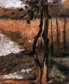 wetreesinart:  Umberto Boccioni (It., 1882-1916),Alberi (Arbres), 1908, pastel sur papier