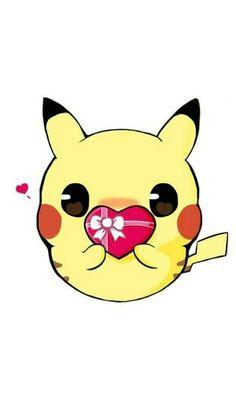 With lots and lots and lots and lots of cuteness and love ~pikachu Anime Chibi, Kawaii Anime, Chibi Kawaii, Cute Chibi, Cute Pokemon Wallpaper, Kawaii Wallpaper, Cute Cartoon Wallpapers, Cute Animal Drawings, Kawaii Drawings