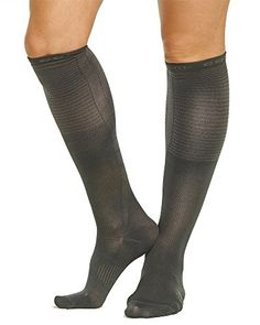 9c68c3982 Tommie Copper Womens Recovery Rise Over the Calf Dress Socks Charcoal 10125  >>
