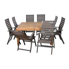 Amazonia Teak Tucson Square 9-Piece Teak Patio Dining Set