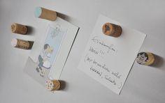 NATURKINDER: Kühlschrank-Korken-Magnete Reuse, Upcycle, Recycling, Barrel, Repurposed, Crafts For Kids, Place Card Holders, English, Passion