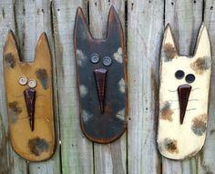Large Primitive Cat  Solid Wood  Handmade by GypsyWindPrimitives
