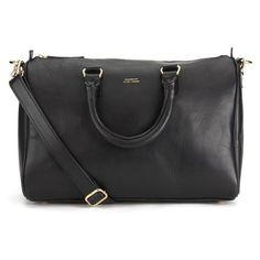Sandqvist Women's Greta Leather Tote Bag - Black (5.682.055 IDR) ❤ liked on Polyvore featuring bags, handbags, tote bags, genuine leather tote, leather duffle bag, zippered tote, leather handbags and zippered tote bag
