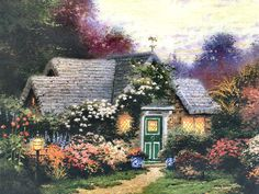 Weathervane Hutch by Thomas Kinkade