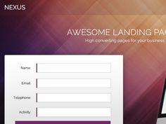 Nexus Landing Page by Umer Farooq