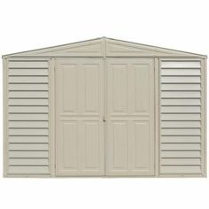 Duramax Building Products Woodbridge 10.5 Ft. X 5 Ft. Plastic Vinyl Shed  With Foundation
