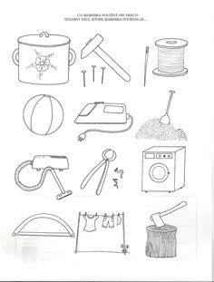 pracovní list - co maminka používá při práci Kids Learning Activities, Grandparents Day, Worksheets, Pop Art, Crafts For Kids, Preschool, Bullet Journal, Education, House