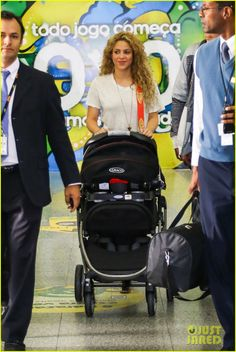 Shakira arrives in Brazil with her son Milan on June 20, 2013