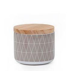 Grey Geo Canister Small