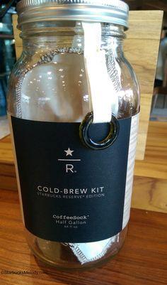 starbucks / roastery branded coffee sock cold brew kit.