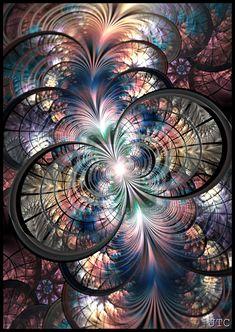 ♥ ⊰❁⊱ Cosmic Oasis by ⊰❁⊱ (fractal art) Fractal Images, Fractal Art, Psychedelic Art, Kaleidoscope Art, Art Antique, Fractal Design, Oeuvre D'art, Sacred Geometry, Belle Photo