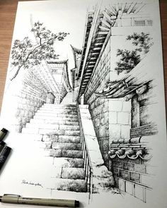 apelwall - 0 results for architecture drawing Architecture Drawing Sketchbooks, Architecture Concept Drawings, Watercolor Architecture, Architecture Art, Landscape Sketch, Landscape Drawings, Pencil Art Drawings, Art Drawings Sketches, Cityscape Drawing