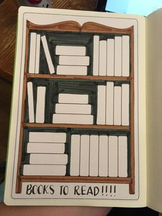 Bookshelf sticker for tracking books to read. Bullet journal blog Planet Plan It