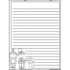 Thanksgiving Writing Paper   Holiday Activities   Pinterest ...