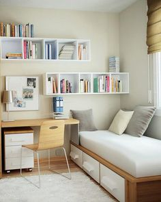 Small bedroom ideas, with a big impact! Get inspired with these homes and their smart use of nightstands, mirrors and other home furnishings to make sure their bedroom doesn't look cramped. #smarthomeideas