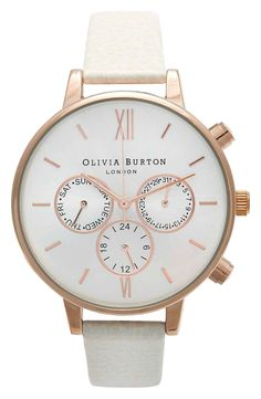 Crushing on this chic white watch with rose gold details.