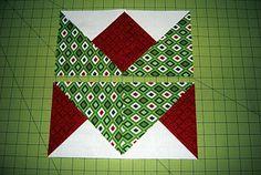 Ryan's Holiday Ribbon Block tutorial (from Ryan Walsh Quilts)