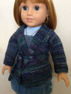 American Girl Doll Autumn Cardigan by AGdollknits on Etsy