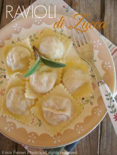 pumpkin ravioli typical recipe -  Ravioli di zucca mantovani - Ricetta tradizionale