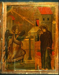 """Annunciation,"" The Sinai Icon Collection Byzantine Icons, Byzantine Art, Religious Icons, Religious Art, Saint Catherine's Monastery, Greek Icons, Christian Mysticism, Constantine The Great, Best Icons"