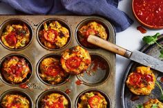 Get the kids eating their vegetables with these crispy vegie fritters made in a muffin pan. Just Pies, Savory Muffins, Savoury Pies, Egg Muffins, Beef Pies, Sweet Chilli Sauce, Flaky Pastry, Perfect Breakfast, Savory Breakfast