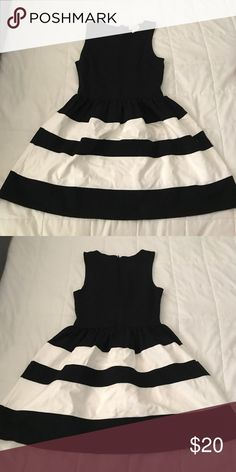 b&w dress stretchy. great condition Dresses Midi