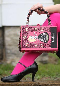 Book purse. Alice in Wonderland!