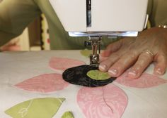 How to Machine Stitch Applique by Jill Finley of Jillily Studio - Fat Qu...