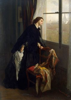 """Gustave-Leonard de Jonghe (1829-1893) Changeable Weather """