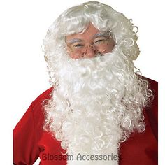 A429 economy #santa claus #beard & wig set christmas adult #costume accessories,  View more on the LINK: http://www.zeppy.io/product/gb/2/272444653536/
