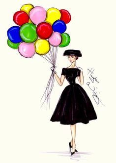 CELEBRITIES ☆ Audrey Hepburn - 'Funny Face' - Illustration by Hayden Williams