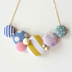 Maru Buttons FUN necklace.  #homako