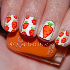 Carrot #NailArt featuring Zoya! Photo by nailadays on Instagram