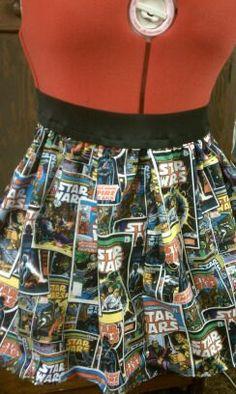 High Waisted Star Wars Skirt by Skirtsey on Etsy, $20.00 Nerdy Comic book Old School Retro Rockabilly Gothabilly Psychobilly Clothing Fashion Woman Girl Child Baby Infant Maternity