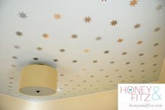 DIY Starry Ceiling Tutorial. This blogger used a silhouette and chalk lines. That seems MUCH better than the painted one I previously pinned.