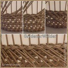 Поделка изделие Плетение Японское-послойное с послойным в две трубочки Бумага газетная Трубочки бумажные фото 3