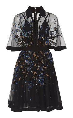 shop elie saab embroidered bell sleeve mini dress floral starting at 7450 si - Life ideas Pretty Outfits, Pretty Dresses, Beautiful Dresses, Cool Outfits, Mini Dresses, Dress Outfits, Fashion Dresses, Dress Up, Dress Work