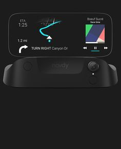Navdy car navigation system uses your mobile phone with a stand alone projector unit connected to your car via the OBD port.
