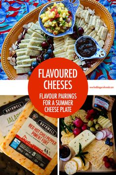 Flavoured cheeses created all kinda of possibilities for your summer entertaining - use our flavour pairing tips to create the perfect summer cheese plate! Canadian Cheese, Canadian Food, Cheese Platers, Good Food, Yummy Food, Cheese Appetizers, Camping Meals, Food Plating, Food And Drink