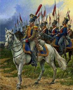 Polish hussars during the Napoleonic wars, during the Napoleonic wars and during the French empire many Polish hussars served under Napoleon Military Art, Military History, Napoleon French, French Empire, War Drums, Grand Duc, Military Costumes, Apocalypse Art, French Army