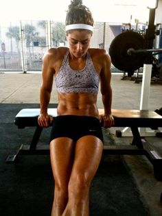 Tricep dips 3 sets of 12
