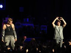 Nick Carter and Brian Littrell of Backstreet Boys  In A World Like This Tour Bristow, Virginia August 18, 2013
