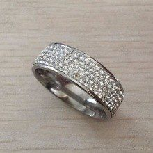 5 Row Lines Clear Crystal Jewelry Fashion Stainless Steel Engagement Rings Crossover Ring, Color Plata, Engagement Jewelry, Wholesale Jewelry, Wedding Ring Bands, Crystal Jewelry, Rings For Men, Fashion Jewelry, Crystals