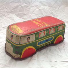 6 Vintage Tin Toys, Windup Celluloid Girl On Bike, Trains, Car, Circus, Ladybird   eBay